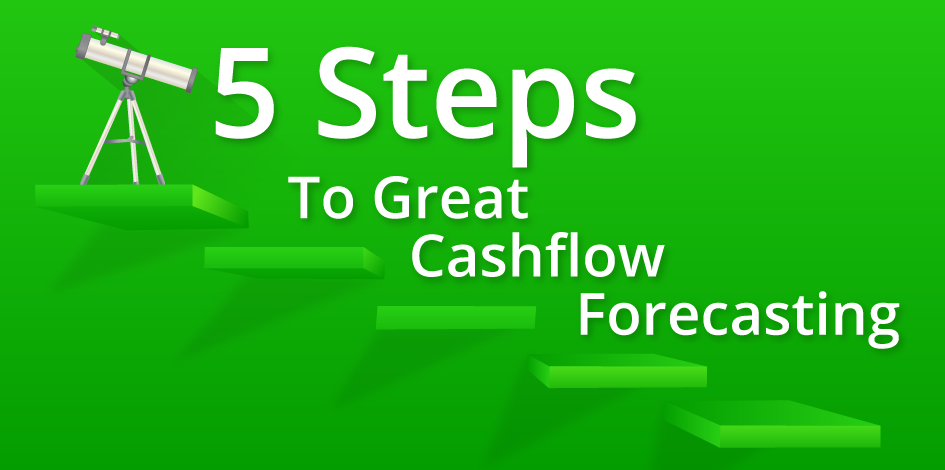 5 steps to great cashflow forecasting Small business Conference, blog article header image